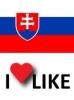 Obľúbenosť Slovenskej republiky, mám rád 71%