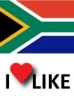 Popularity of South Africa, I like 34%