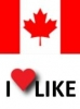 Popularity of Canada, I like 58%