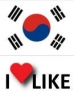 Popularity of South Korea, I like 77%