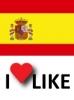 Popularidad España, I like 75%