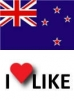 Popularity of New Zealand, I like 83%