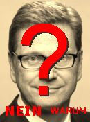 NO! Guido Westerwelle