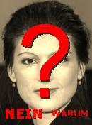 NO! Sahra Wagenknecht