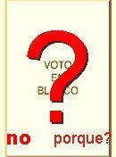 NO! VOTO EN  BLANCO
