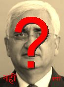 NO! Salman Khurshid