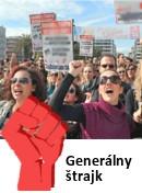 foto  Generálny štrajk v SR